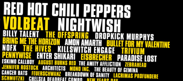 Greenfield 2016 wohl auch mit Red Hot Chili Peppers & Co