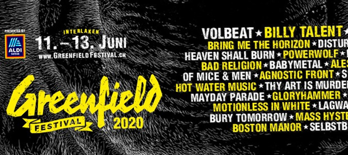 Greenfield 2020 neu mit Billy Talent (am Donnerstag), Incubus & Co