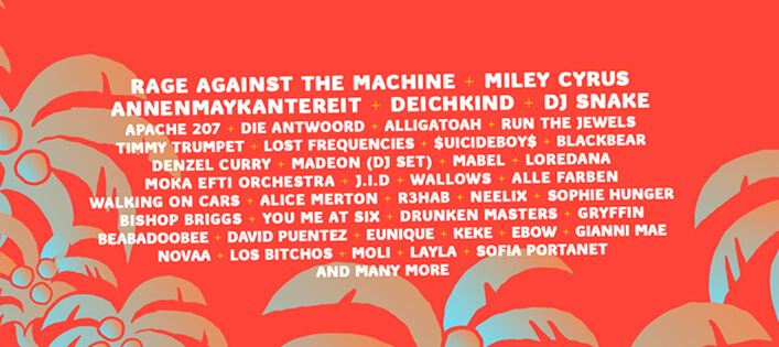 Lollapalooza Berlin 2020 mit RATM, Miley Cyrus & Co