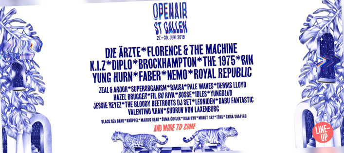 Open Air St. Gallen 2019 neu auch mit Metronomy, Parcels, Dendemann & Co
