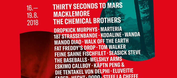 Open Air Gampel 2018 holt sich 30 Seconds To Mars, The Chemical Brothers & Co!