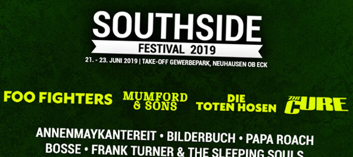 Southside 2019 mit Foo Fighters, Mumford & Sons, Die Toten Hosen, The Cure & Co!
